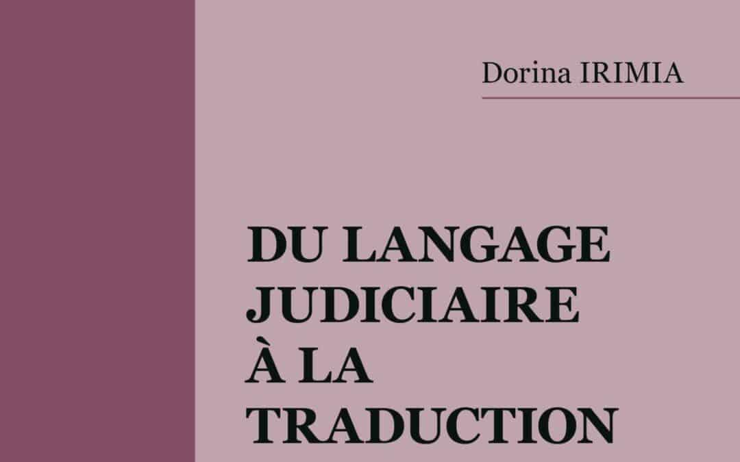 LIVRE : Du langage judiciaire à la traduction.